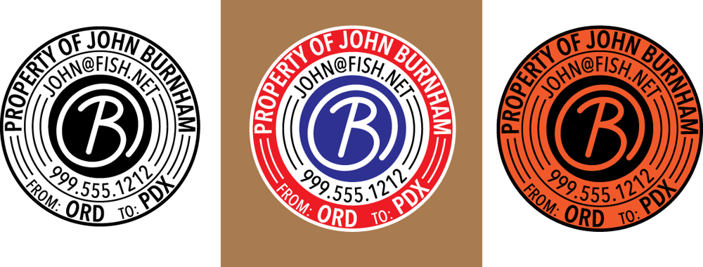 Burnham's Custom Circular Travel Sticker! - image 3 - student project