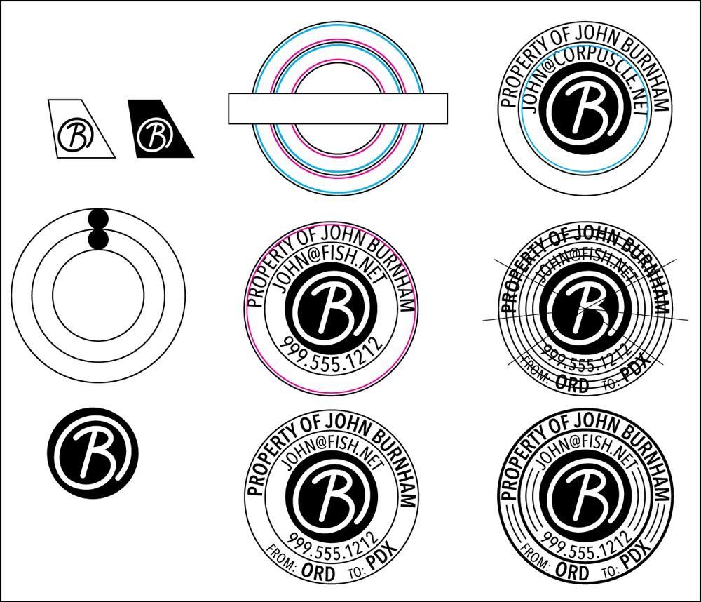 Burnham's Custom Circular Travel Sticker! - image 2 - student project