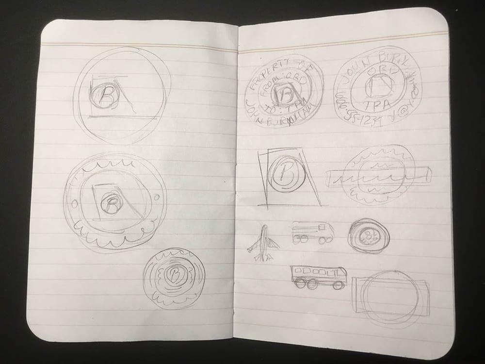 Burnham's Custom Circular Travel Sticker! - image 1 - student project
