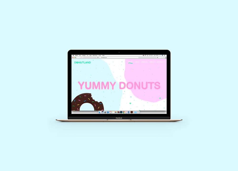 Random Donut Landing Page  - image 2 - student project