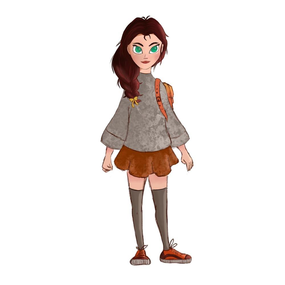 Cartoon Girl - image 1 - student project