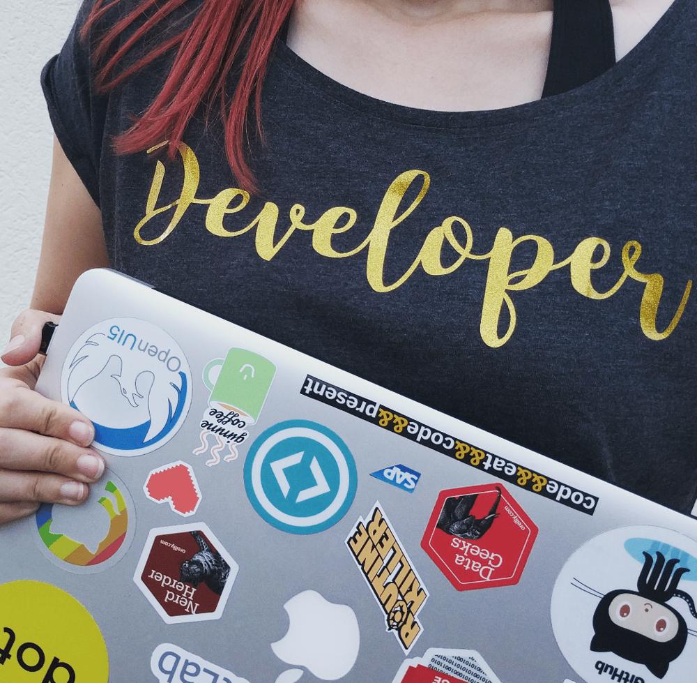 NERDpraunig - cute feminine Developer & Nerd shirts - image 4 - student project