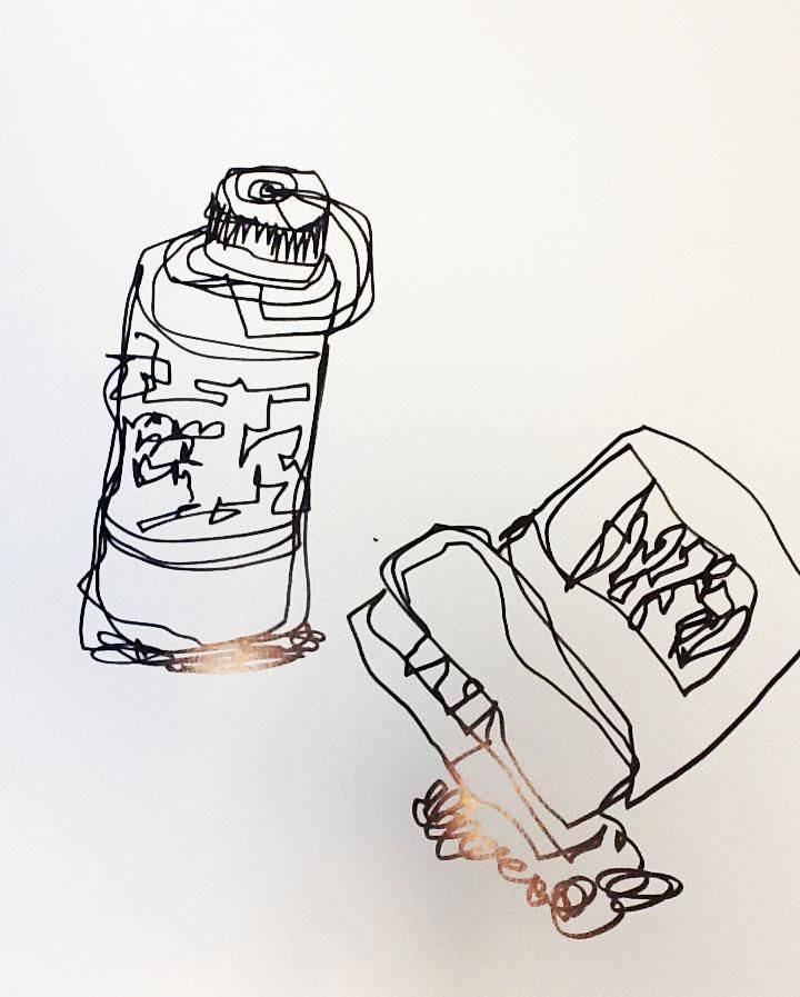 Stapler and waterbottle - image 7 - student project