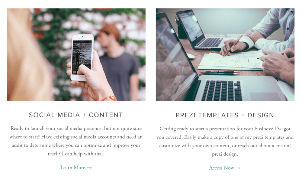 Personal Site - Portfolio + Brand Storytelling Services - image 2 - student project