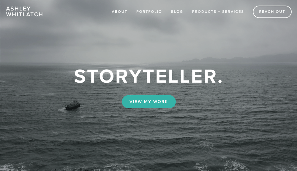 Personal Site - Portfolio + Brand Storytelling Services - image 1 - student project