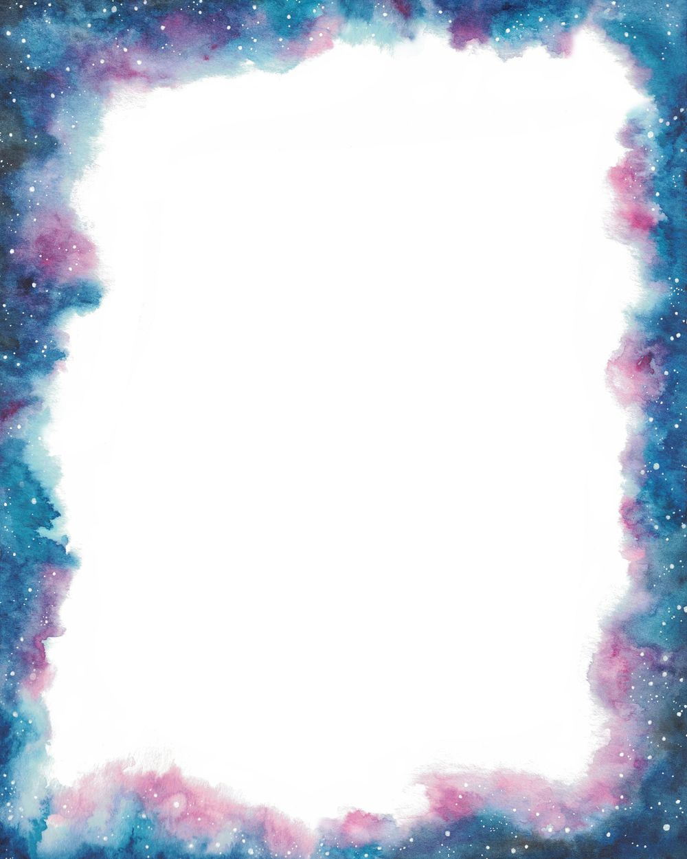 How To Paint a Watercolor Galaxy Border - image 2 - student project