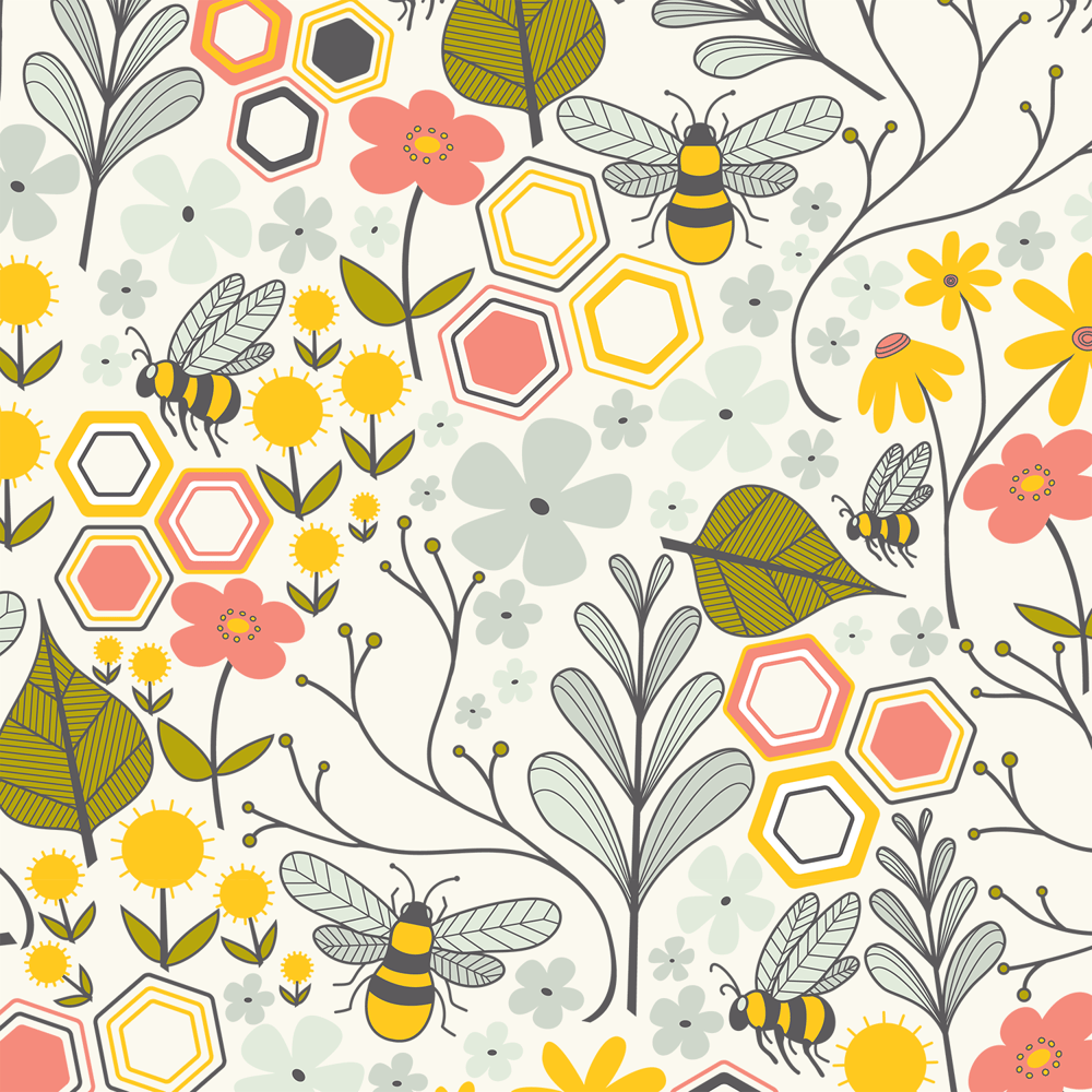 Bee pattern - image 1 - student project