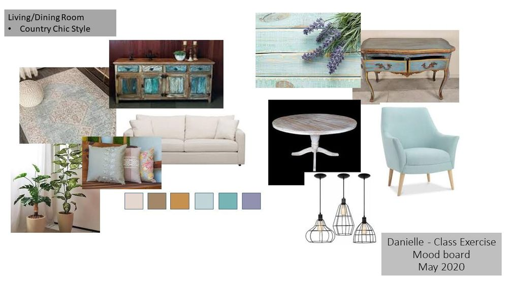 Country Chic Living/Dining Room - image 2 - student project