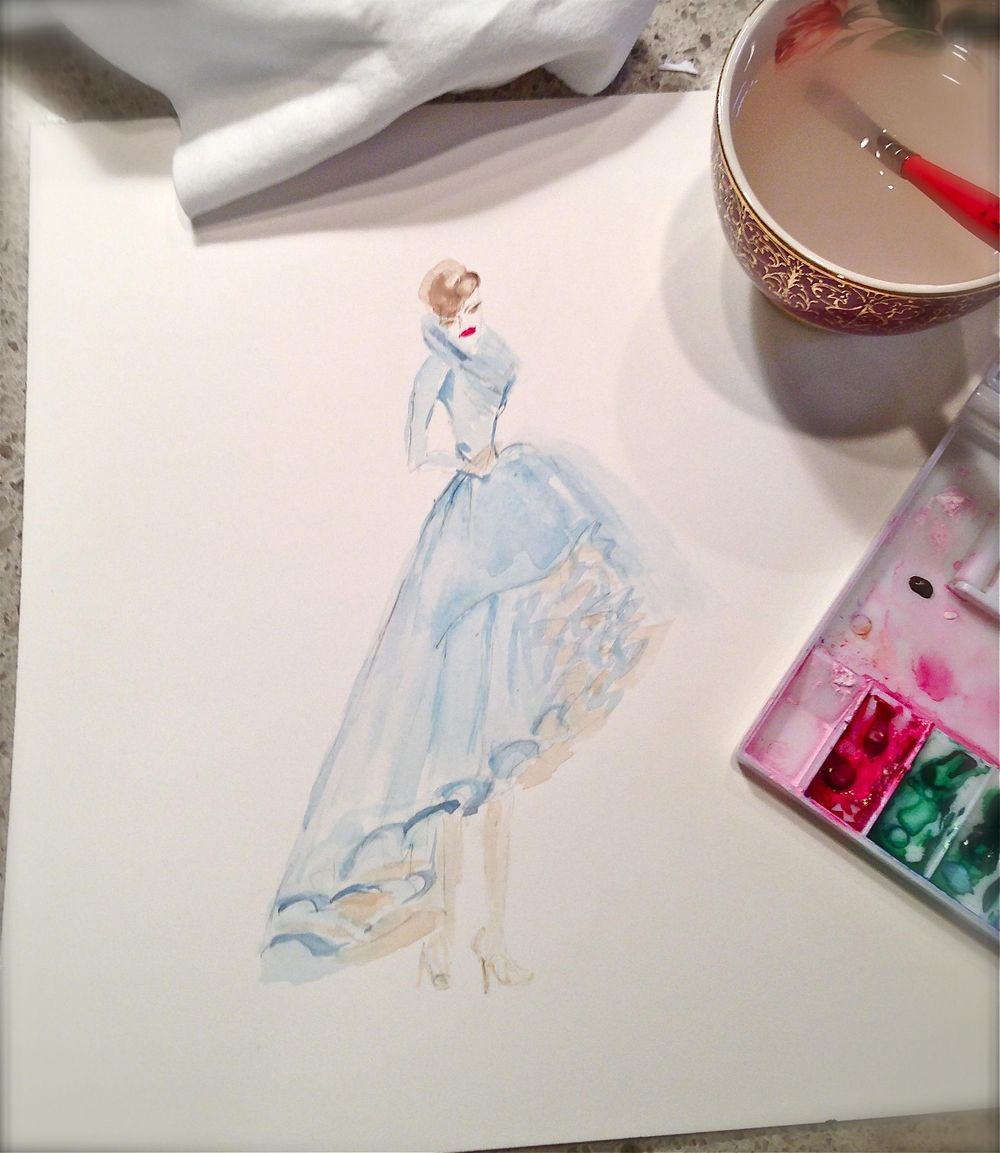 UPDATED WATERCOLOR  - Inspiration Antoinette - image 6 - student project