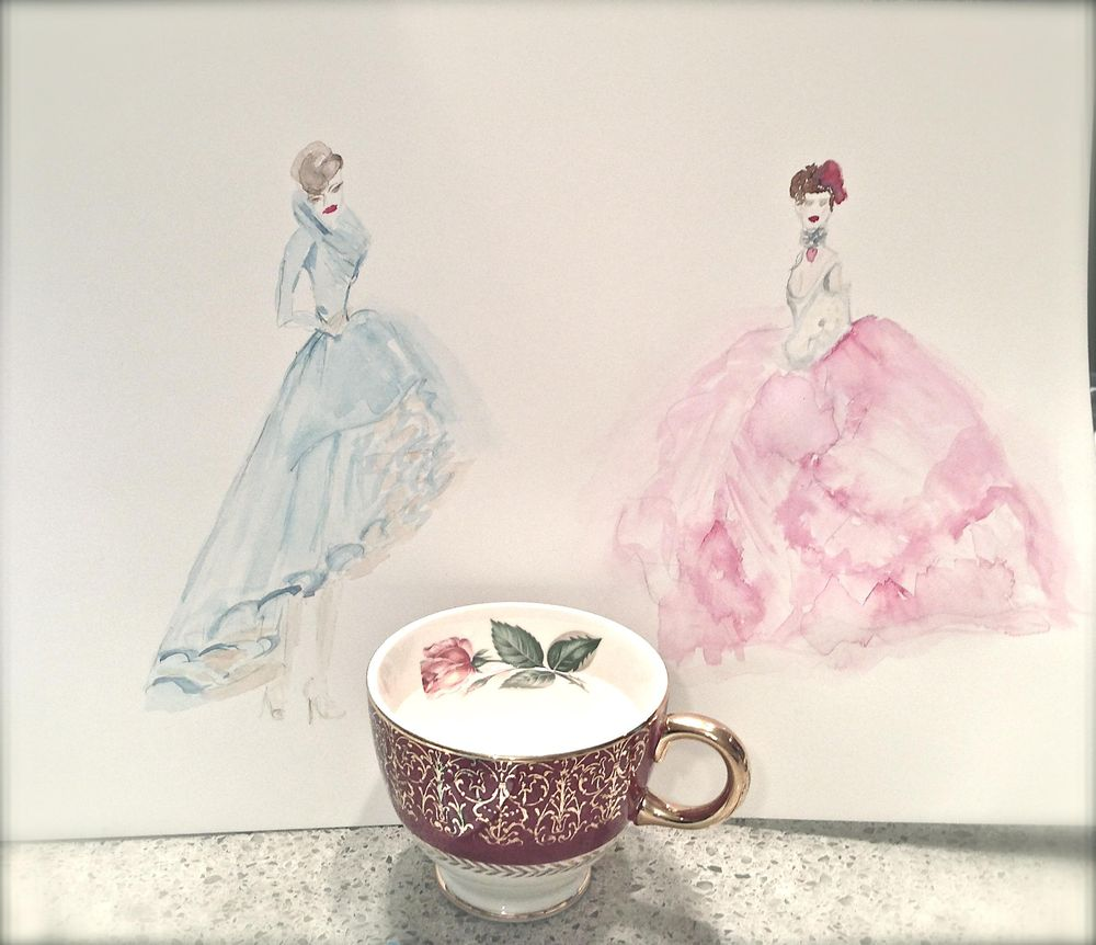 UPDATED WATERCOLOR  - Inspiration Antoinette - image 1 - student project