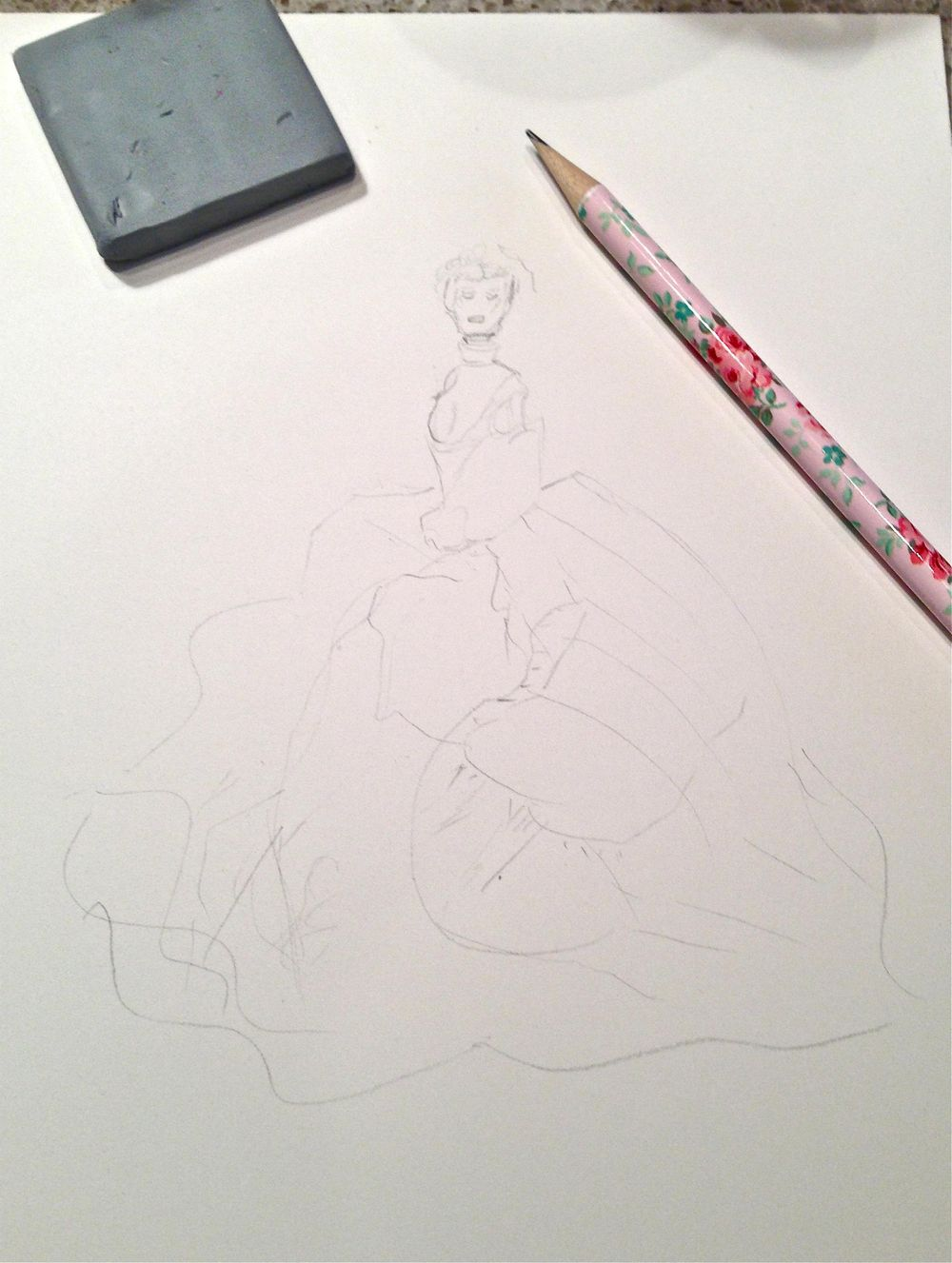UPDATED WATERCOLOR  - Inspiration Antoinette - image 3 - student project