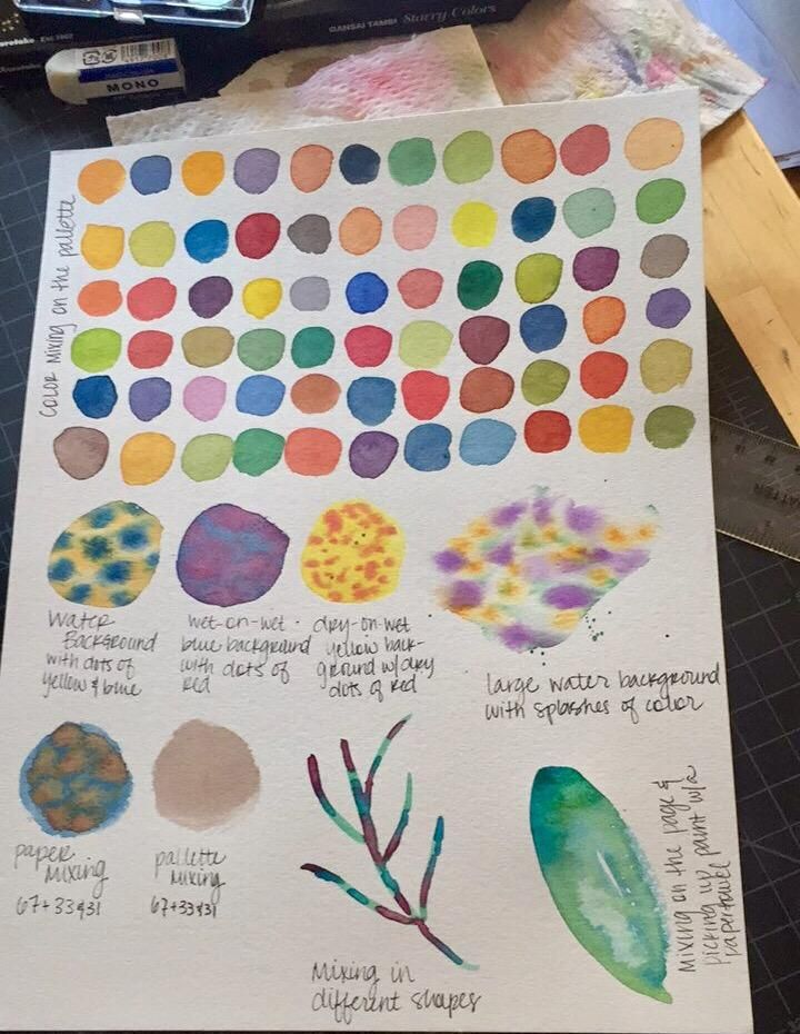 Color Wheel, Intuitive Mixing & Color Play - image 2 - student project