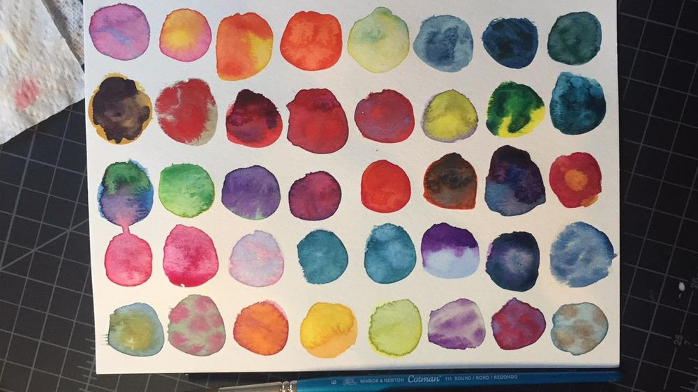 Color Wheel, Intuitive Mixing & Color Play - image 3 - student project