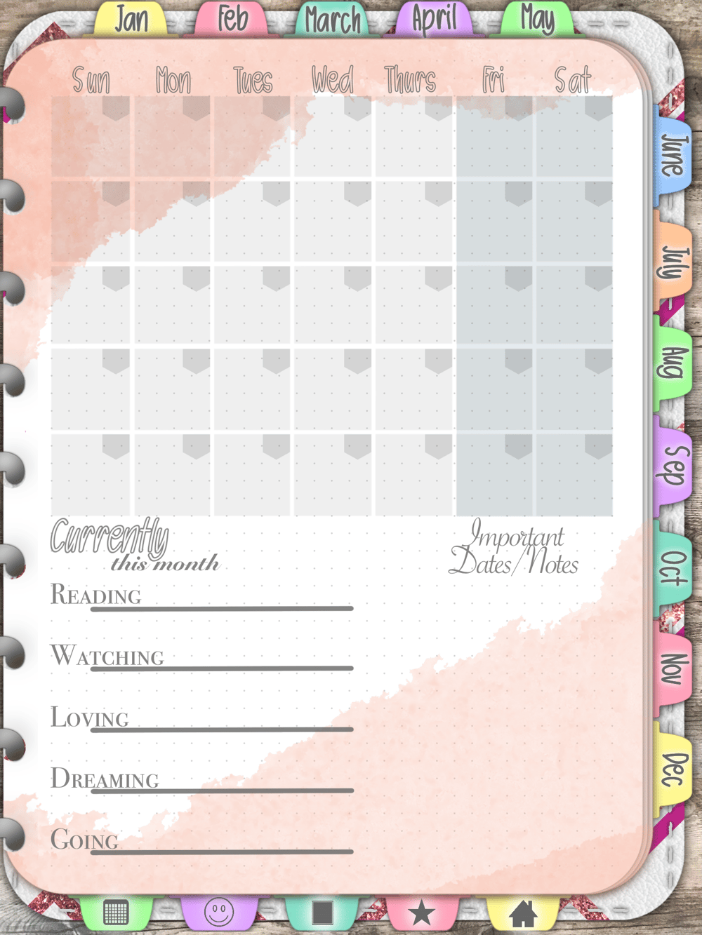 Undated Vertical Planner - image 1 - student project