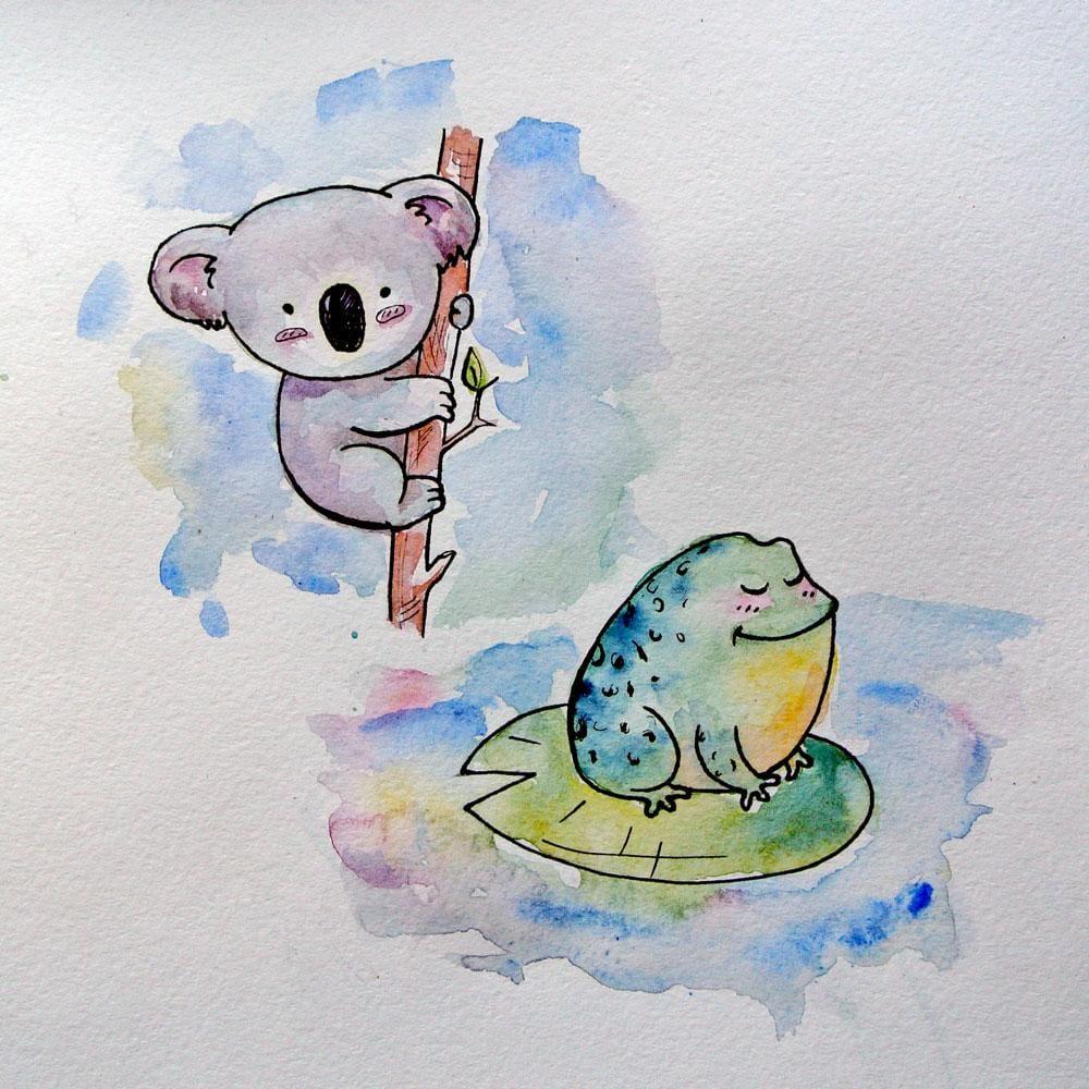 Koala Bear and Frog ^_^ - image 1 - student project