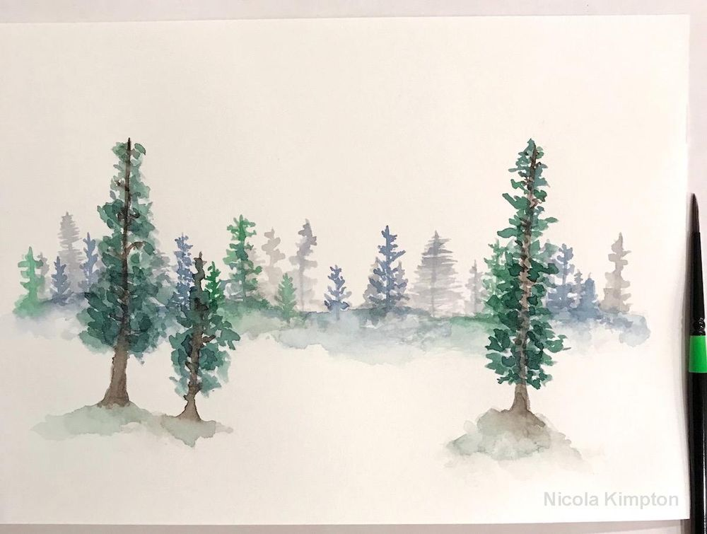 Forest Pines Landscape - image 1 - student project