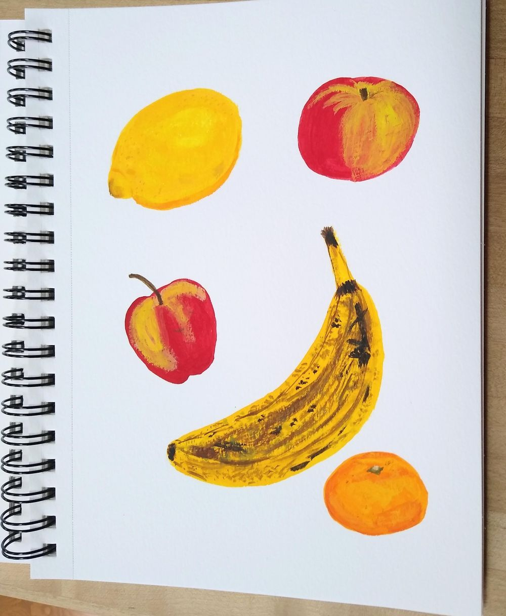 old banana & other fruit - image 1 - student project