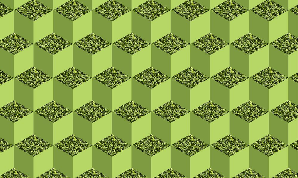 Green isometric cube pattern - image 2 - student project