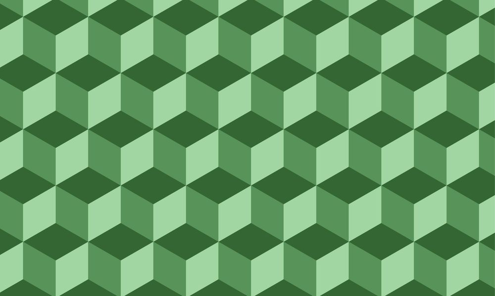 Green isometric cube pattern - image 1 - student project