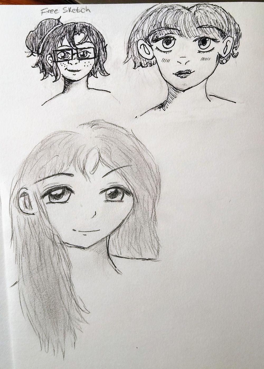 Manga-Styled Portrait - image 1 - student project