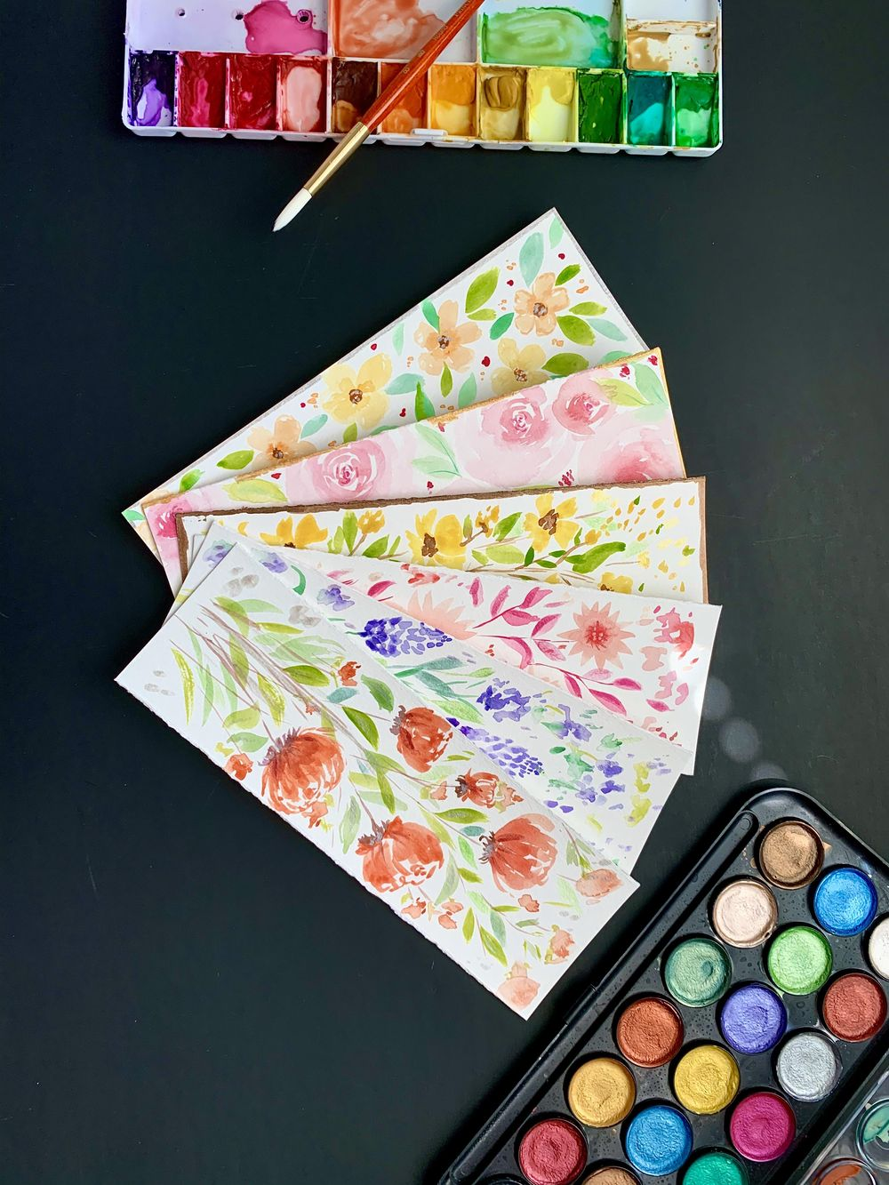 fun watercolor bookmarks - image 1 - student project