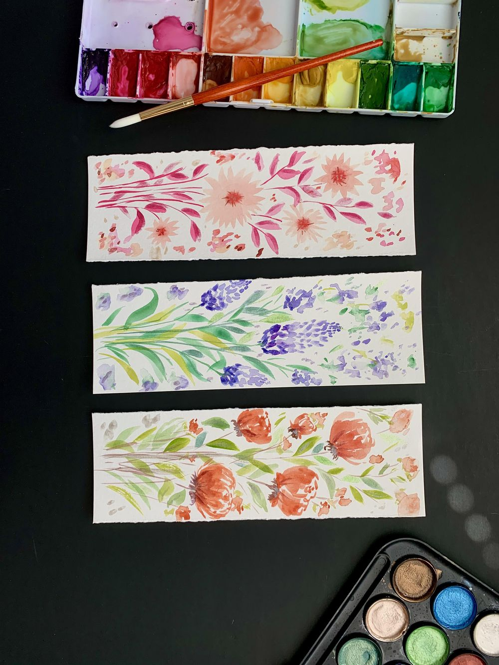 fun watercolor bookmarks - image 3 - student project