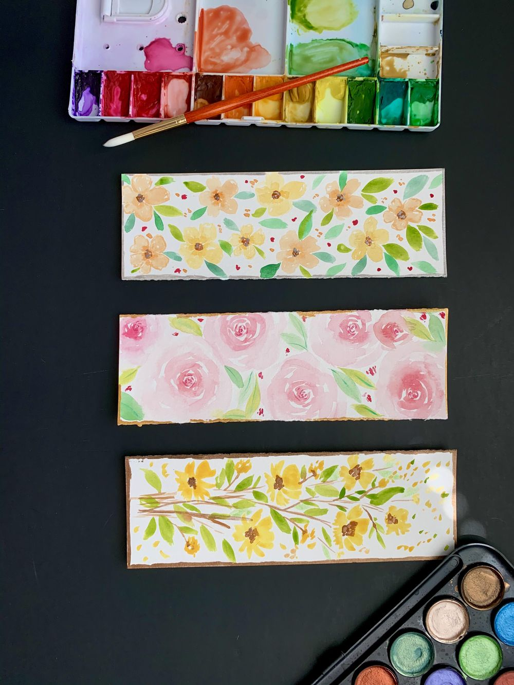fun watercolor bookmarks - image 2 - student project