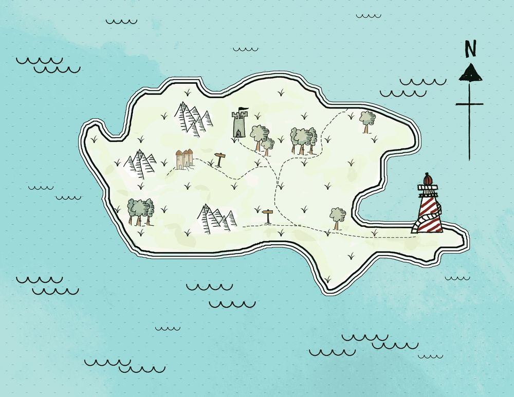 Island map - image 1 - student project