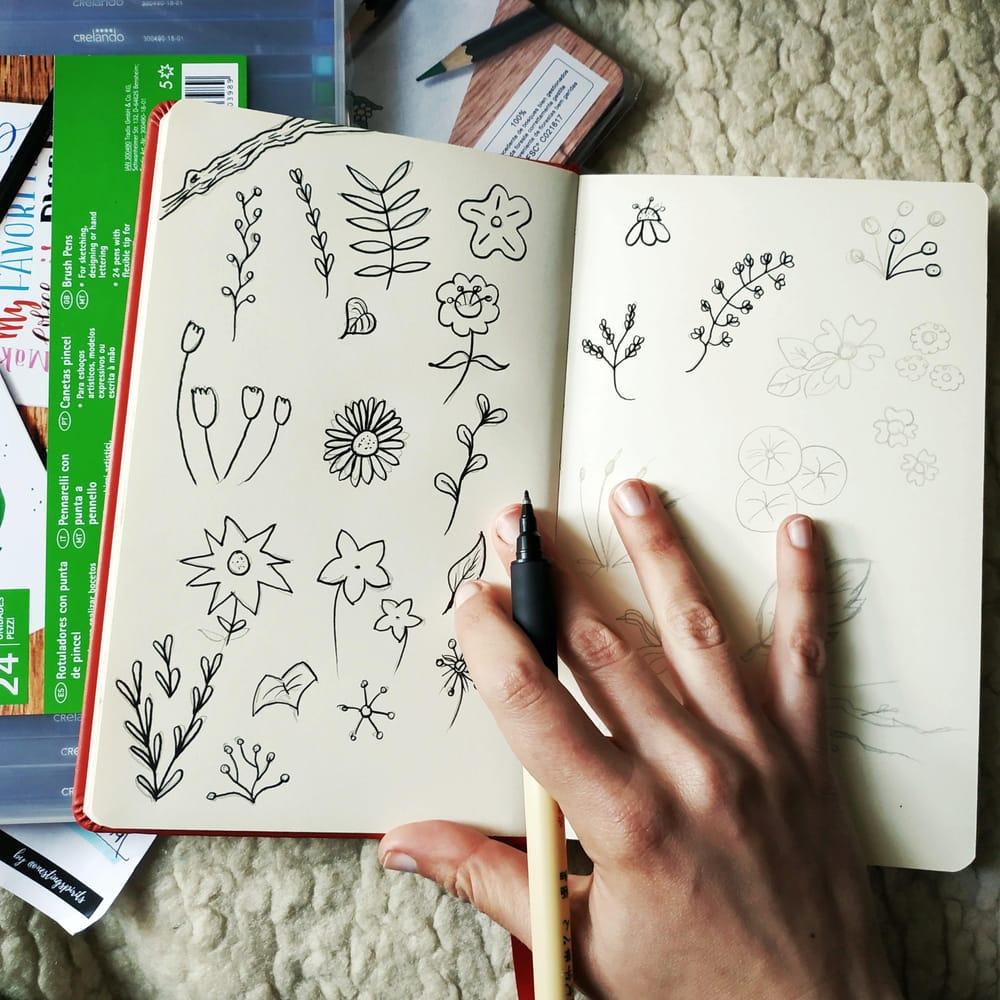 Brush Pen Florals Bouquet - image 3 - student project