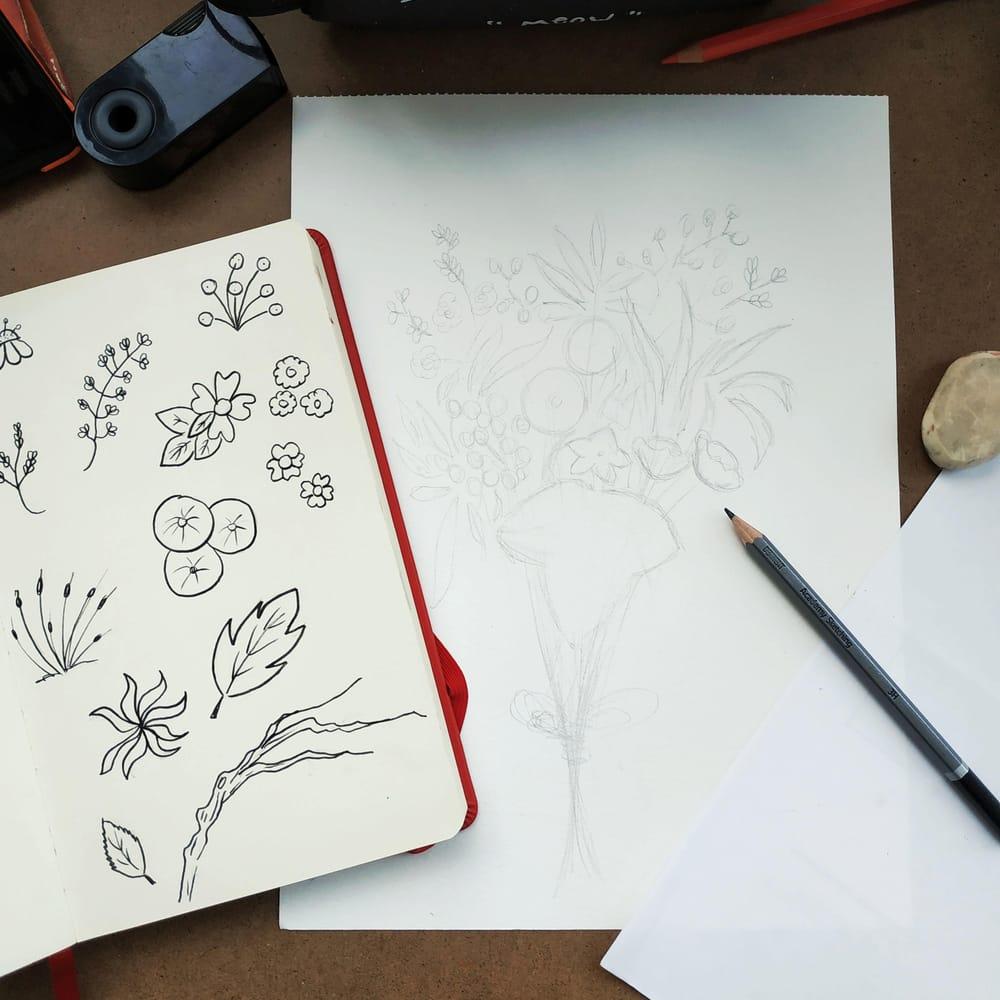 Brush Pen Florals Bouquet - image 4 - student project