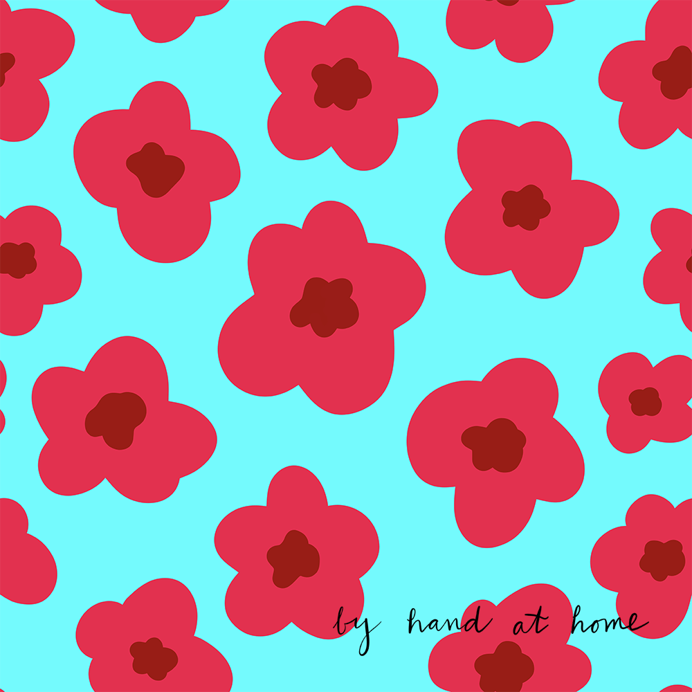 poppies on spoonflower - image 1 - student project