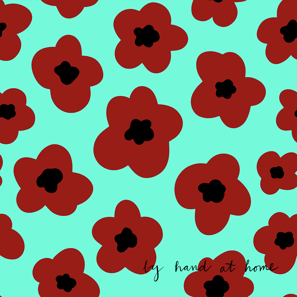 poppies on spoonflower - image 2 - student project