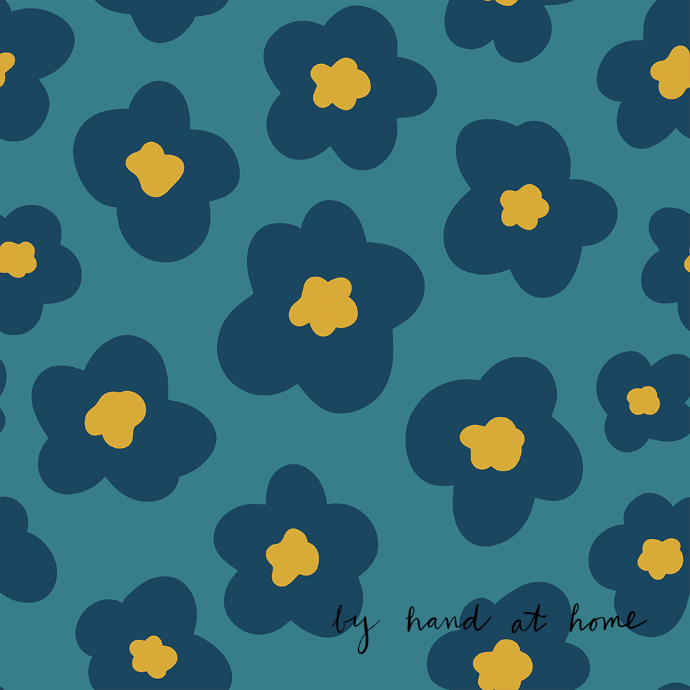 poppies on spoonflower - image 3 - student project
