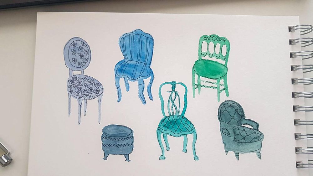 Vintage chairs - image 1 - student project