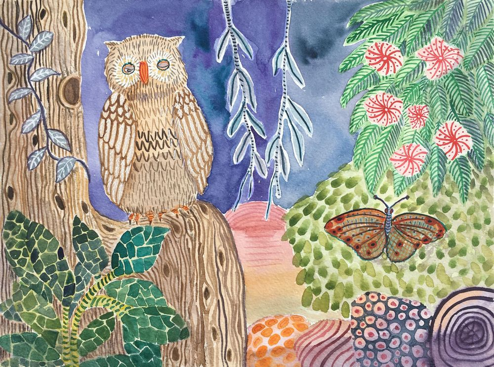 EllieP's textured owl - image 2 - student project