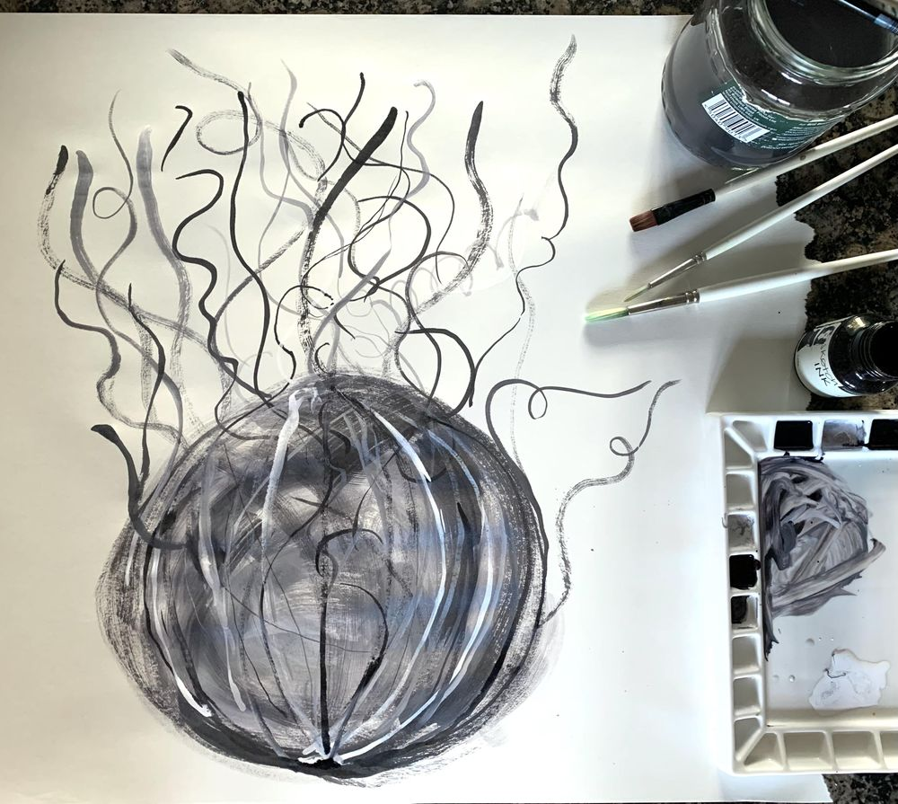 Acrylic ink colour collecting - image 1 - student project