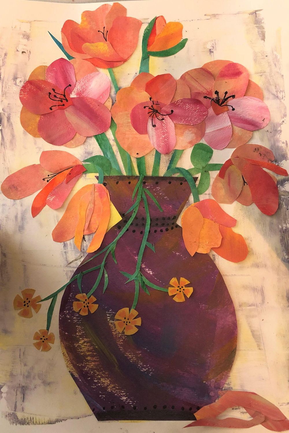 painted paper flowers - image 1 - student project