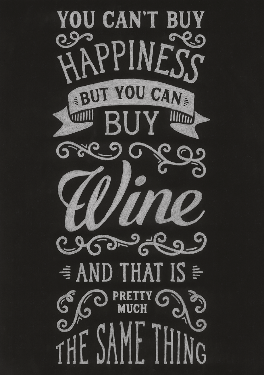 Happiness Chalkboard - image 1 - student project