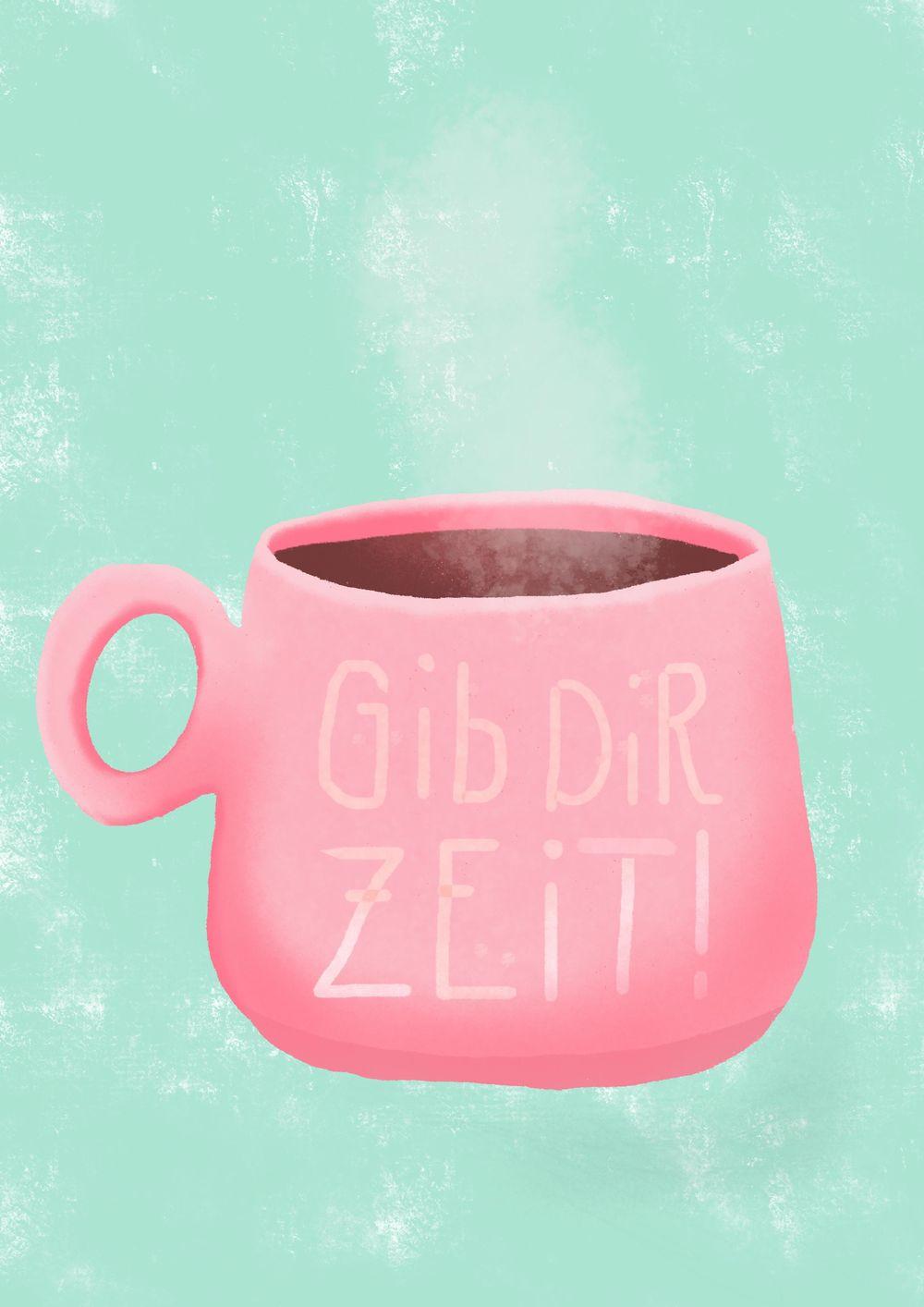 Coffee Mug Made with Procreate Pocket - image 1 - student project