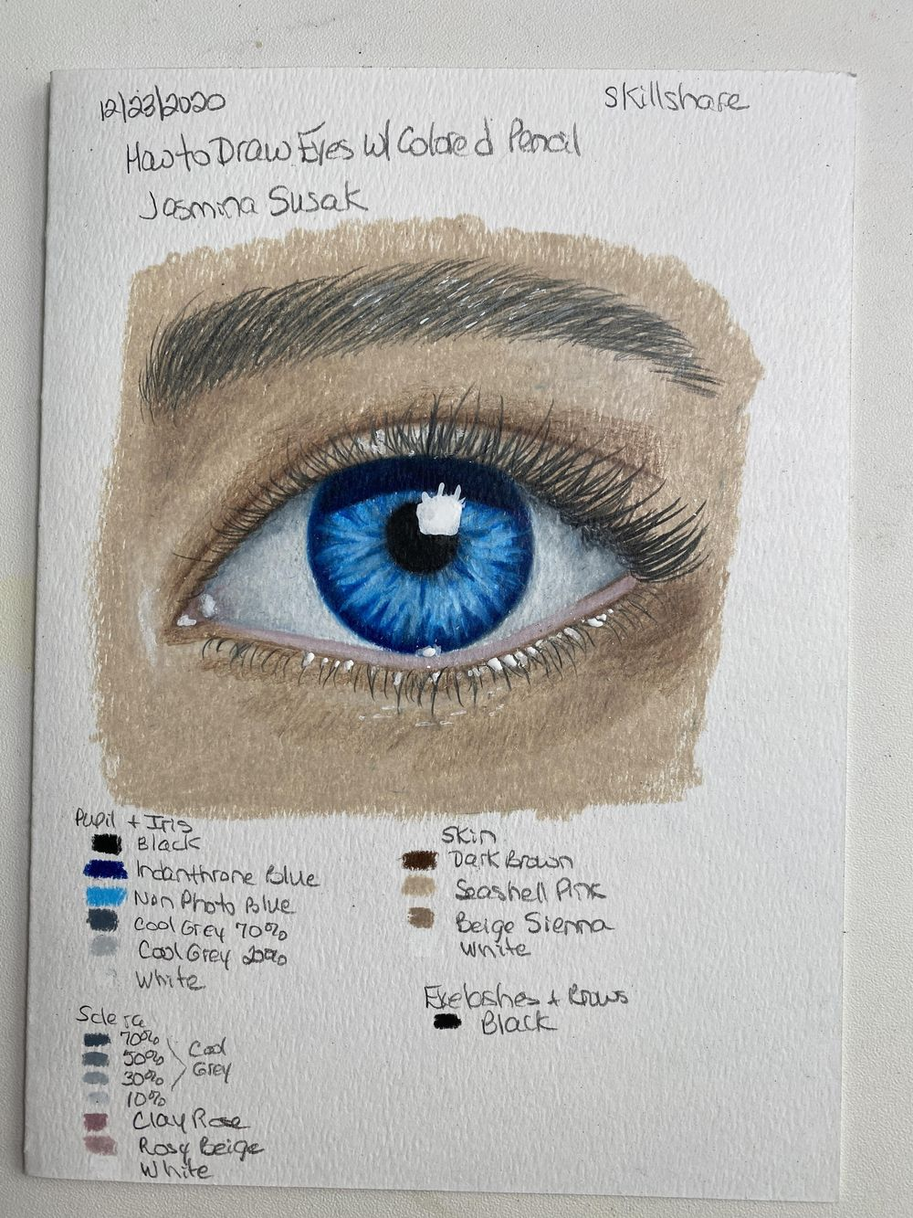Blue Eye - updated to add brown eye - image 1 - student project