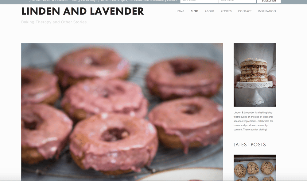 Linden & Lavender- Baking therapy and other stories - image 1 - student project