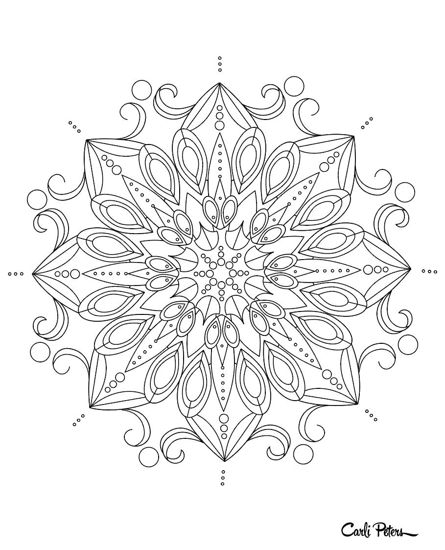 Coloring Book Lotus Mandala - image 1 - student project