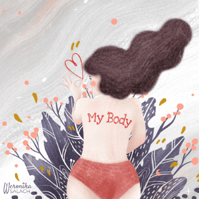 MY BODY, Powerful Women Illustration - image 1 - student project