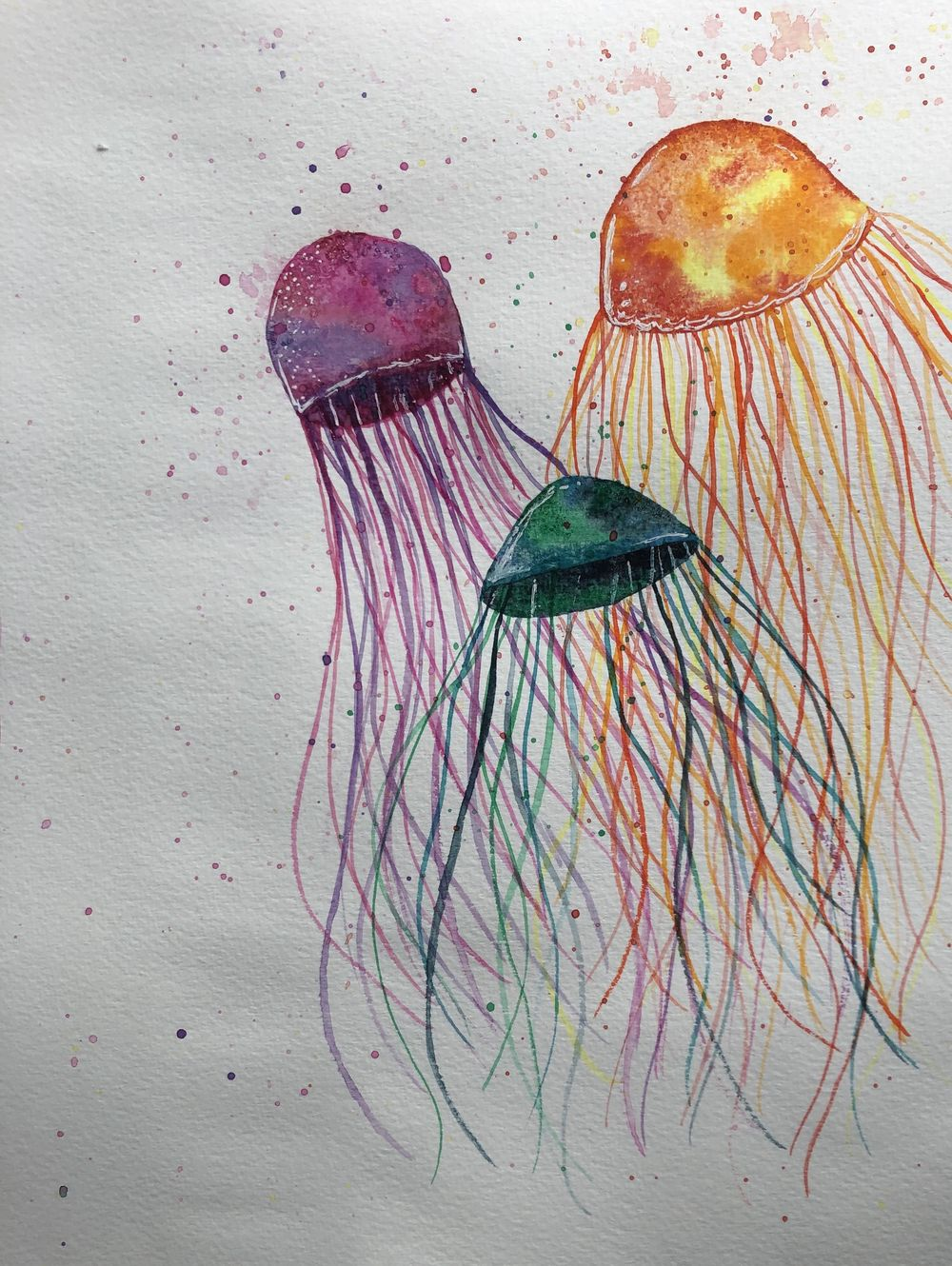 Galaxy, Monochrome Flower, Jellyfish & Other Exercises - image 4 - student project
