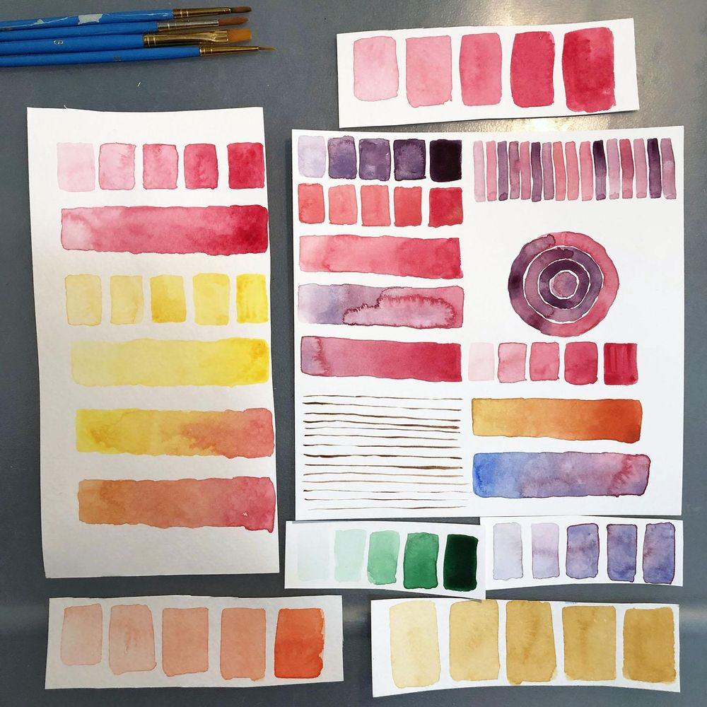 Watercolour Exercises - image 5 - student project