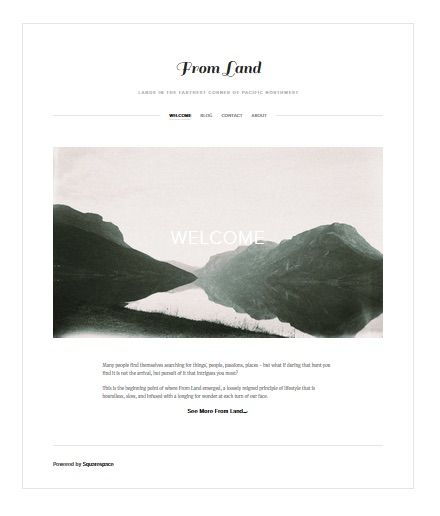 From Land Magazine - Squarespace Website Mockup - image 1 - student project