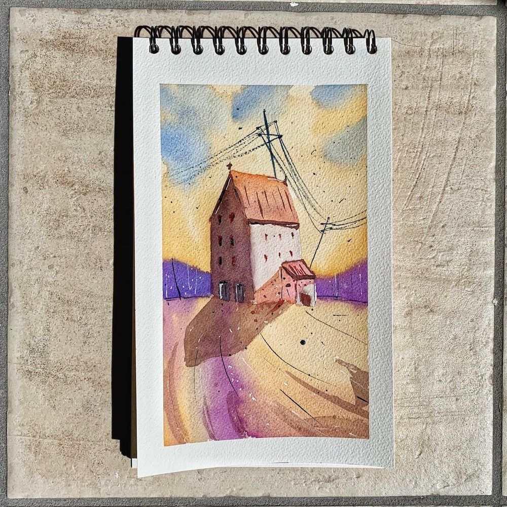 House in watercolor - image 1 - student project