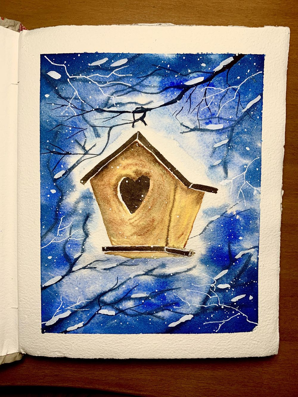Sunday Painting Winter Holiday Cards - image 3 - student project