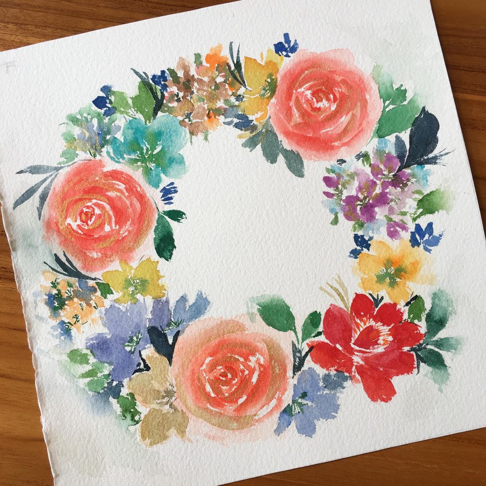 Bright floral Wreath - image 1 - student project