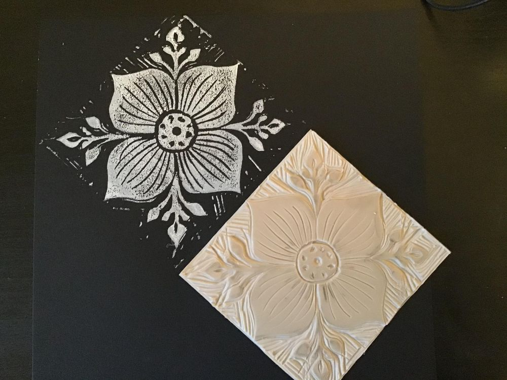 Lino print patterns - image 1 - student project